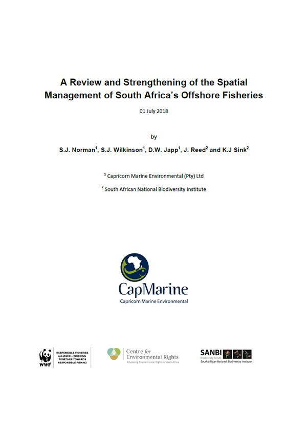 A Review and Strengthening of the Spatial Management of South Africa's Offshore Fisheries